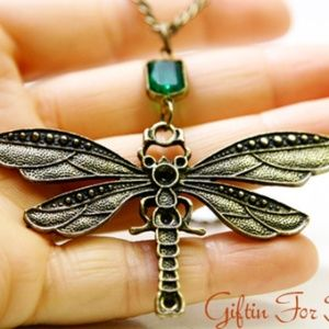 Dragonfly Necklace, Insect Jewelry, Handmade 🌸